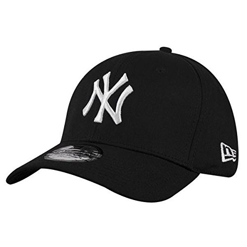 New Era 39Thirty - Gorra unisex, color negro / blanco, talla S / M