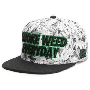Cayler and Sons Everyday Cap White Kush Black Green