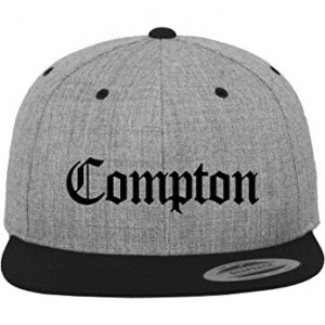 Compton Snapback h.grey/blk one size
