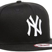New Era Mlb 9 Fifty - Gorra unisex, color Negro con logo blanco, talla S / M