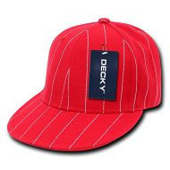 Decky Pin Striped Fitted - Gorra para hombre, color rojo, talla Size 25