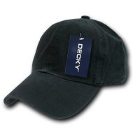 Decky Washed Polo - Gorra para hombre, color negro, talla n/a