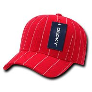 Decky Pin Striped Adjustable - Gorra para hombre, color rojo, talla n/a