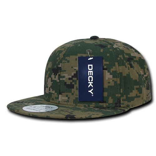 Decky camuflaje digital Snap Back - Gorra de béisbol, Digital Camo Snap Back, multicolor