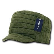 Decky Knitted Flat Top Cap - Gorro para hombre, color verde, talla n/a