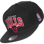 Mitchell & Ness Black And White Chicago Bulls NBA NHL Snapback Cap Kappe EU450