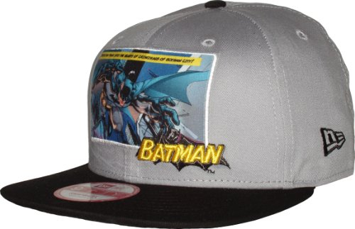 New Era 9 Fifty Comic Panel 2 Batman Snapback Cap - Grey Black - Small/Medium