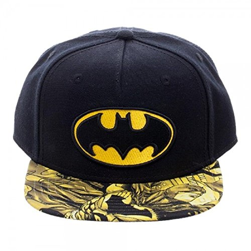 DC Comics Batman Logo Sublimated Bill Youth Snapback Gorra De Béisbol